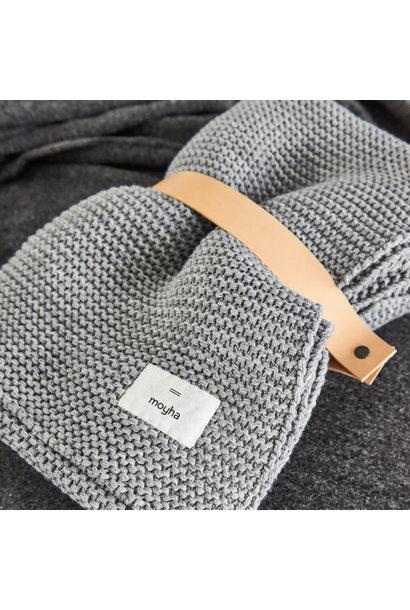 Woondeken Warm feeling grey blanket 130x180
