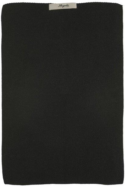 Handdoek Mynte pure black knitted