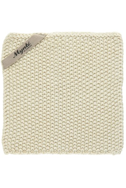 Pannenlap Mynte latte knitted