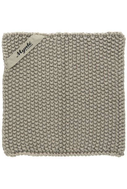 Pannenlap Mynte sand knitted