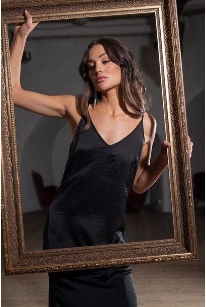 Jurk  Nadja strap dress black
