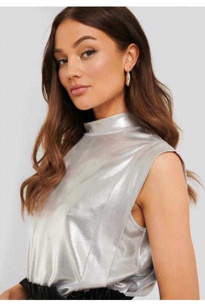 Top Leona light silver metallic