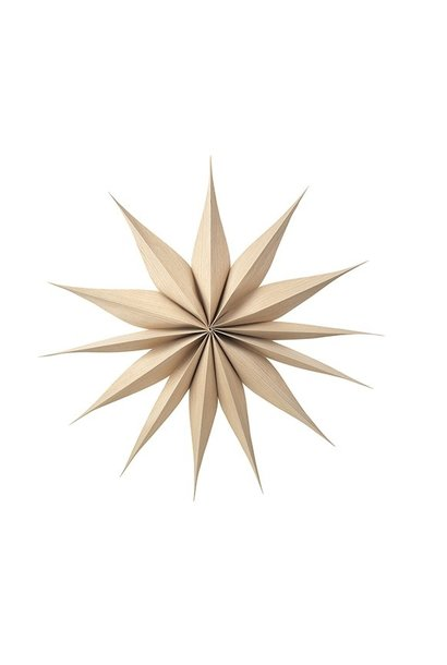 Wanddecoratie Deco star Venok Wood L Natural