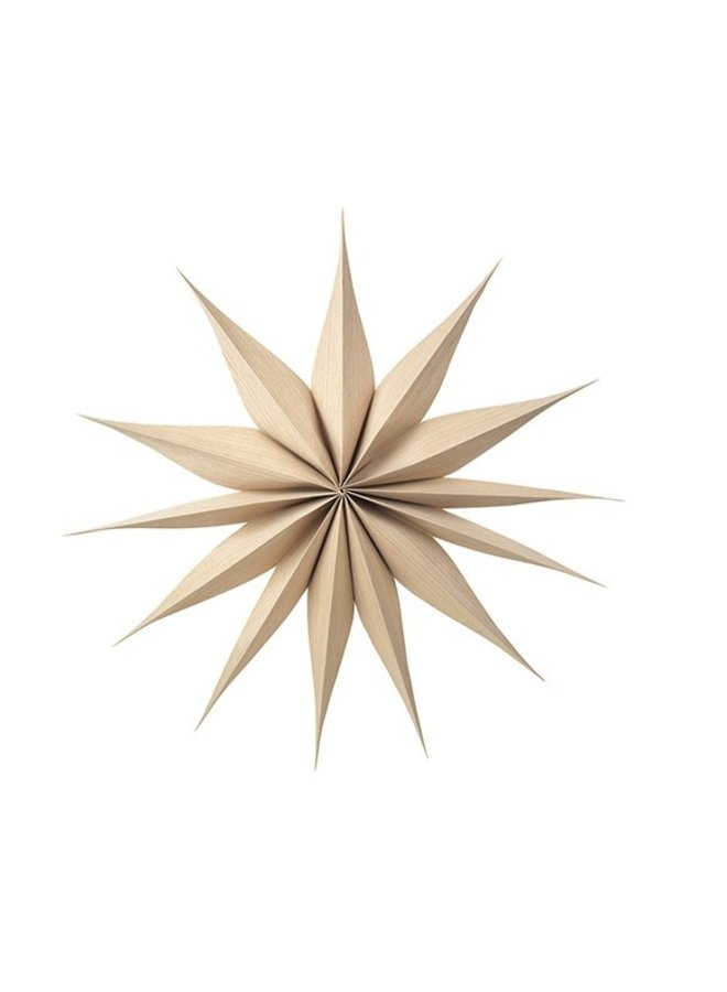 Wanddecoratie Deco star Venok Wood L Natural