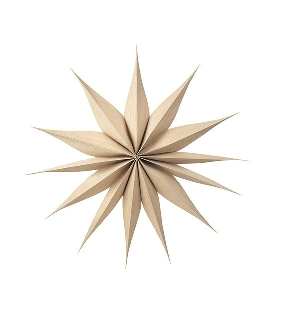 Wanddecoratie Deco star Venok Wood L Natural-1