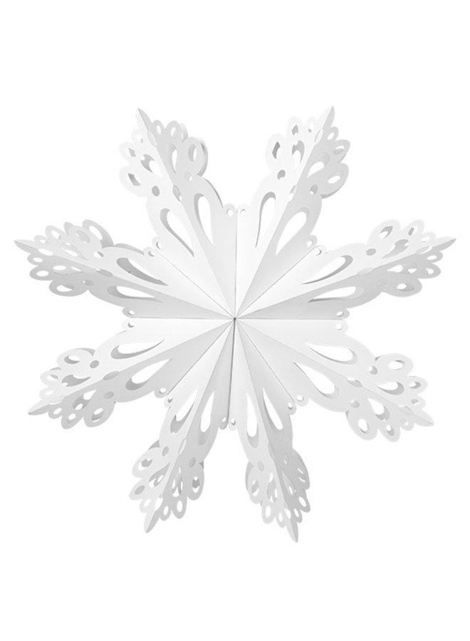 Hangdecoratie Deco Snowflake paper XL White