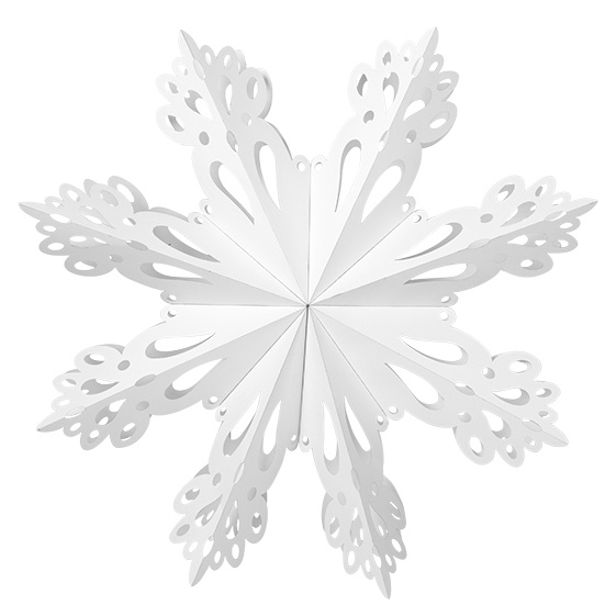 Hangdecoratie Deco Snowflake paper XL White-1