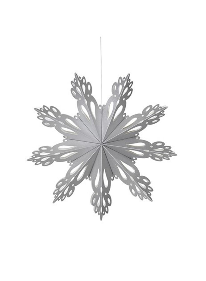 Hangdecoratie Deco Snowflake paper M Silver