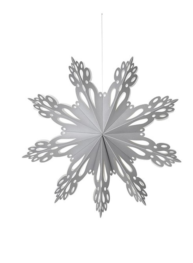 Hangdecoratie Deco Snowflake paper L Silver