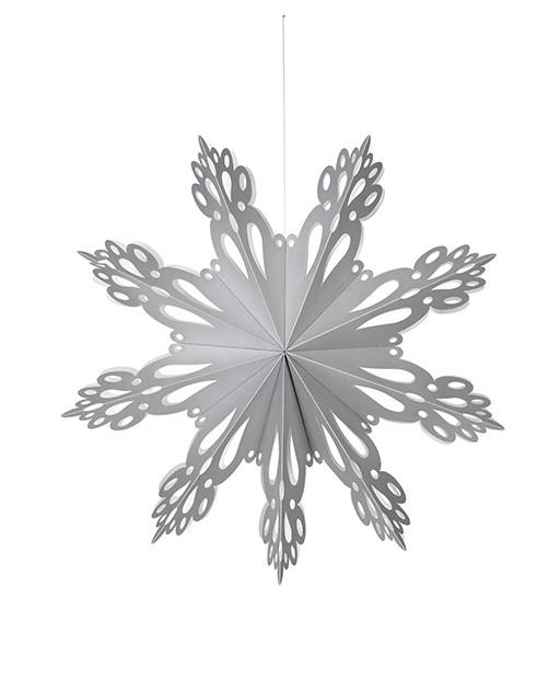 Hangdecoratie Deco Snowflake paper L Silver-1