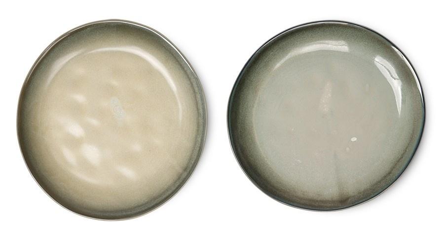 Bord home chef ceramics: side plate grey/green-3