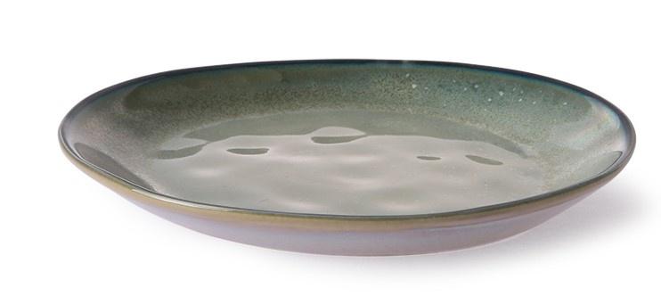 Bord home chef ceramics: side plate grey/green-4