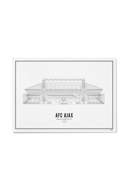 Poster Amsterdam- Ajax- A4 / 21X30cm