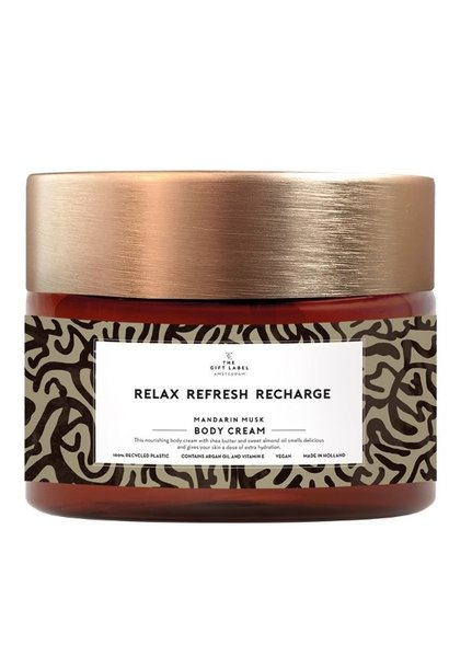 Body cream relax refresh recharge