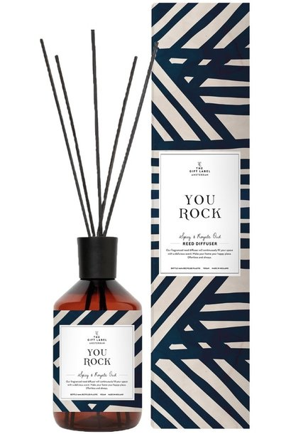 Geurstokjes reed diffuser you rock