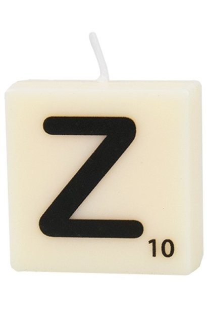 Kaars letter candle Z
