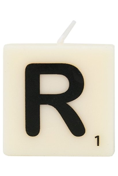 Kaars letter candle R