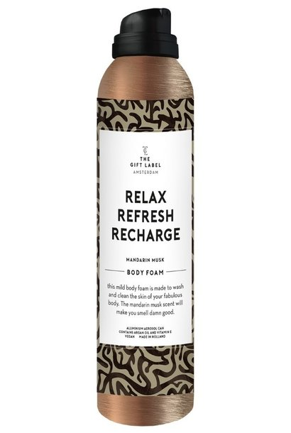 Body foam relax refresh recharge