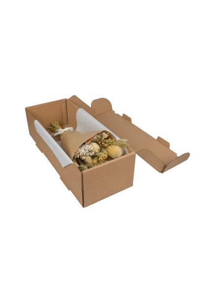Droogbloemen hand tied bouquet in box naturel