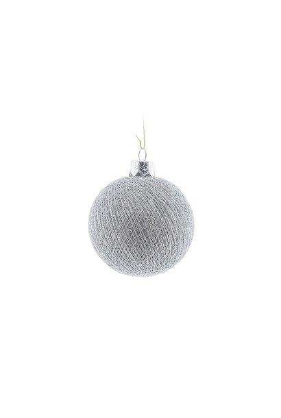 Kerstbal katoen stone silver