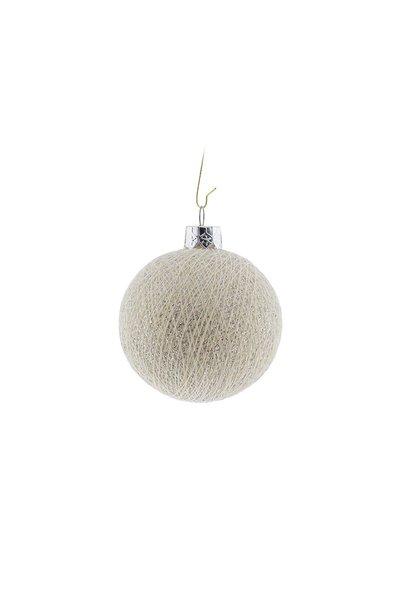 Kerstbal katoen shell silver