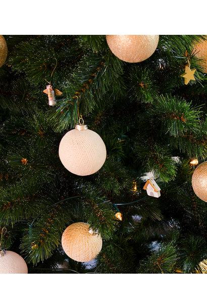 Kerstbal katoen shell