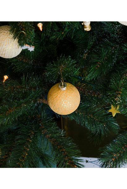Kerstbal katoen gold brass