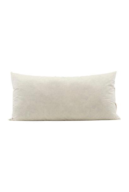 Kussenopvulling white 80x40
