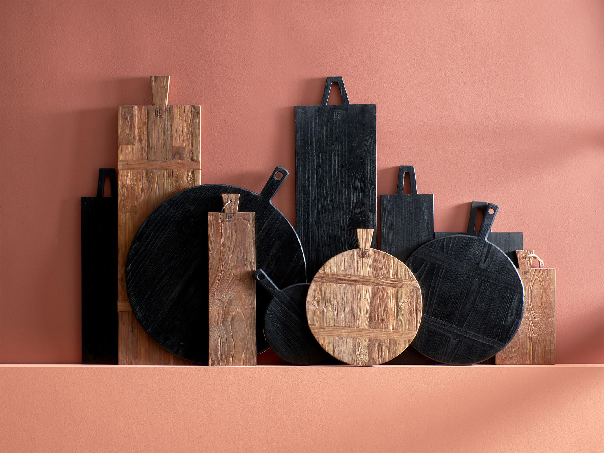 Broodplank black bread board round m-2