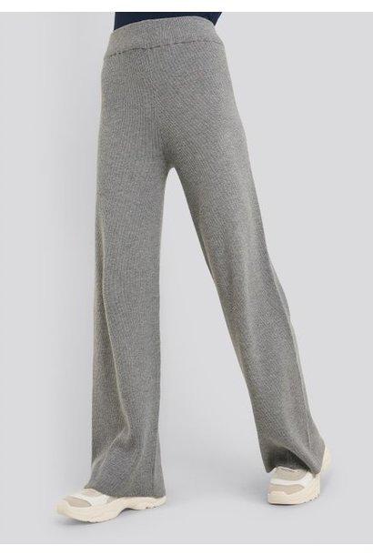Broek Maja knit pant grey melange