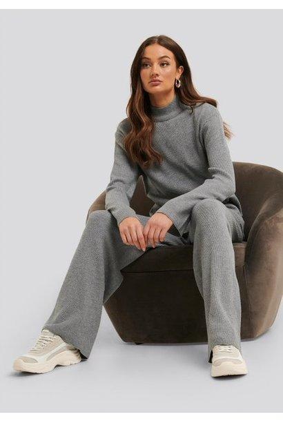 Top Maja knit grey melange