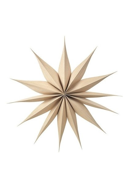 Hangdecoratie Deco star Venok Wood Natural