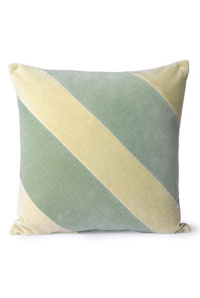 Kussen striped velvet cushion mint/green (45x45)