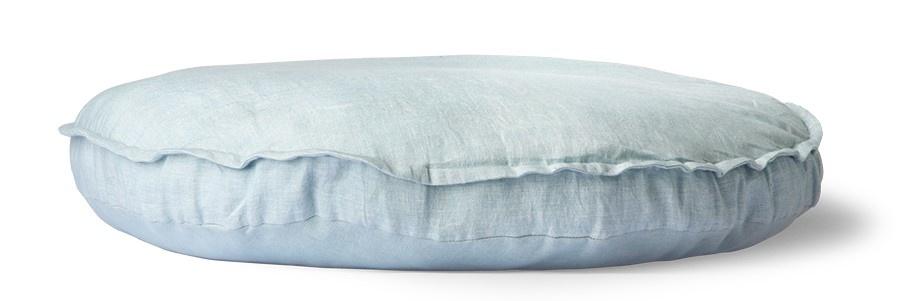 Kussen linen seat cushion round ice blue (ø60)-3