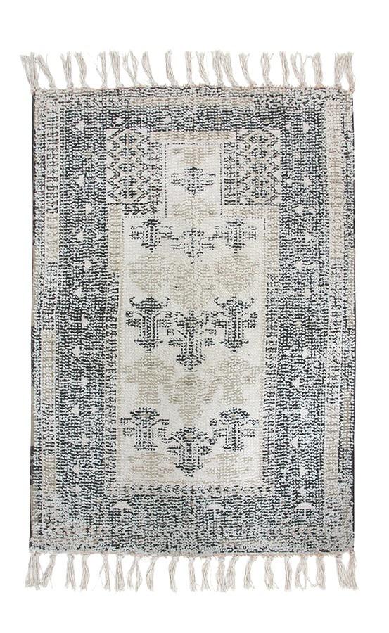 Badmat printed bath mat black/white overtufted (60x90)-3