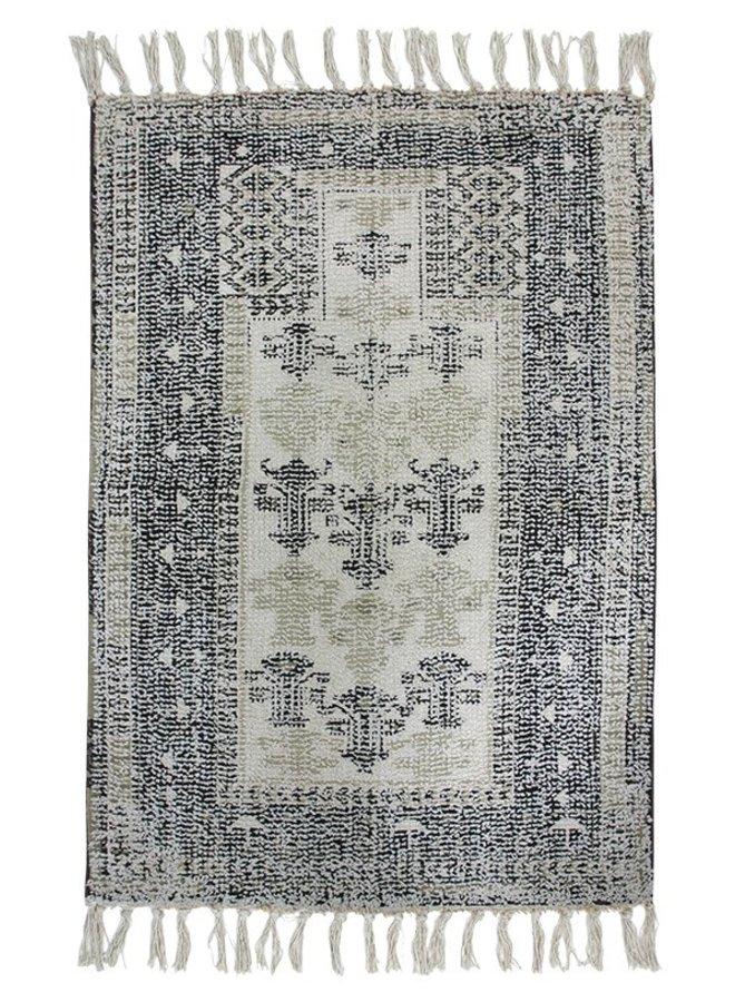 Badmat printed bath mat black/white overtufted (60x90)