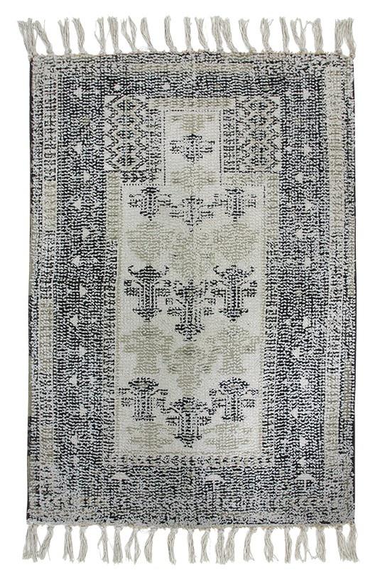 Badmat printed bath mat black/white overtufted (60x90)-1