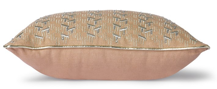 Kussen nude cushion with silver patches (30x40)-1