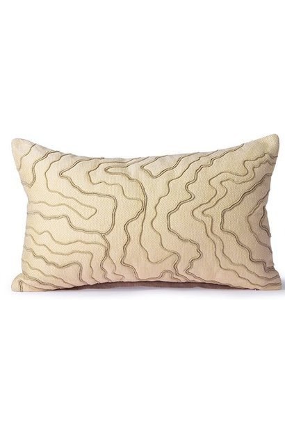 Kussen cream cushion with stitched lines (30x50)