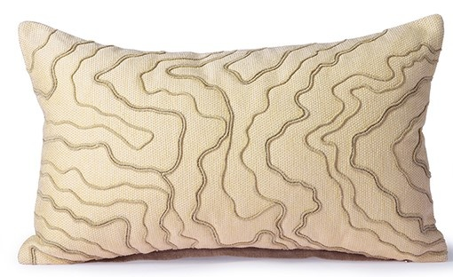 Kussen cream cushion with stitched lines (30x50)-1