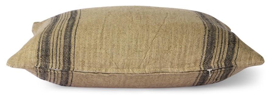 Kussen linen cushion dark beige (45x45)-3