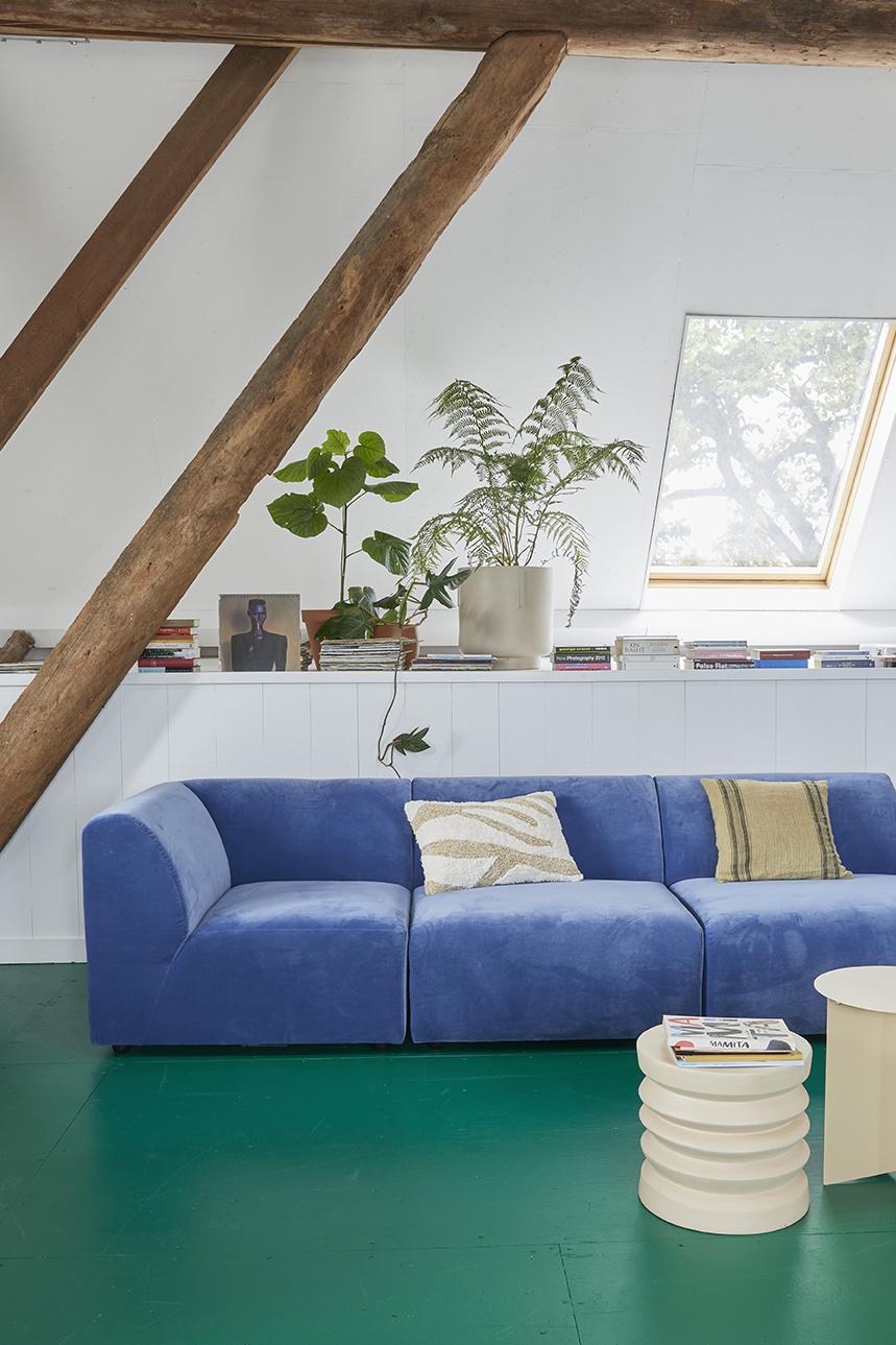 Kussen linen cushion dark beige (45x45)-4