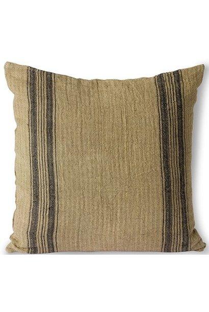 Kussen linen cushion dark beige (45x45)