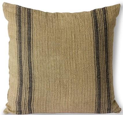 Kussen linen cushion dark beige (45x45)-1