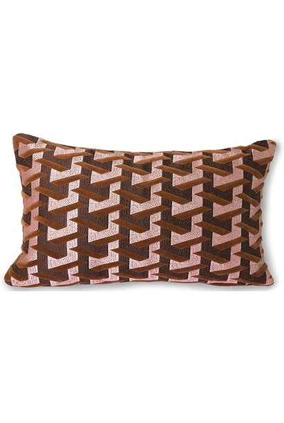 Kussen geometric cushion bordeaux (30x50)