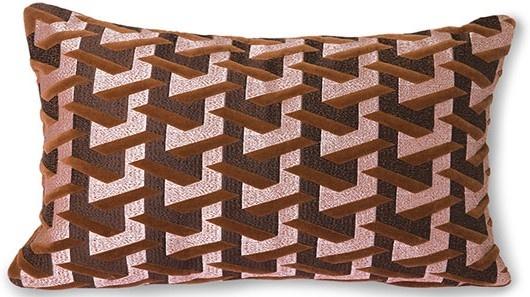 Kussen geometric cushion bordeaux (30x50)-1