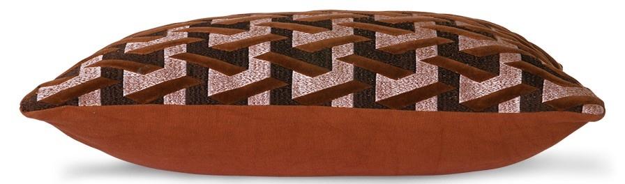 Kussen geometric cushion bordeaux (30x50)-3