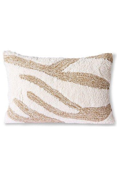Kussen fluffy cushion white/beige (35x55)