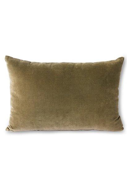 Kussen velvet cushion army (40x60)