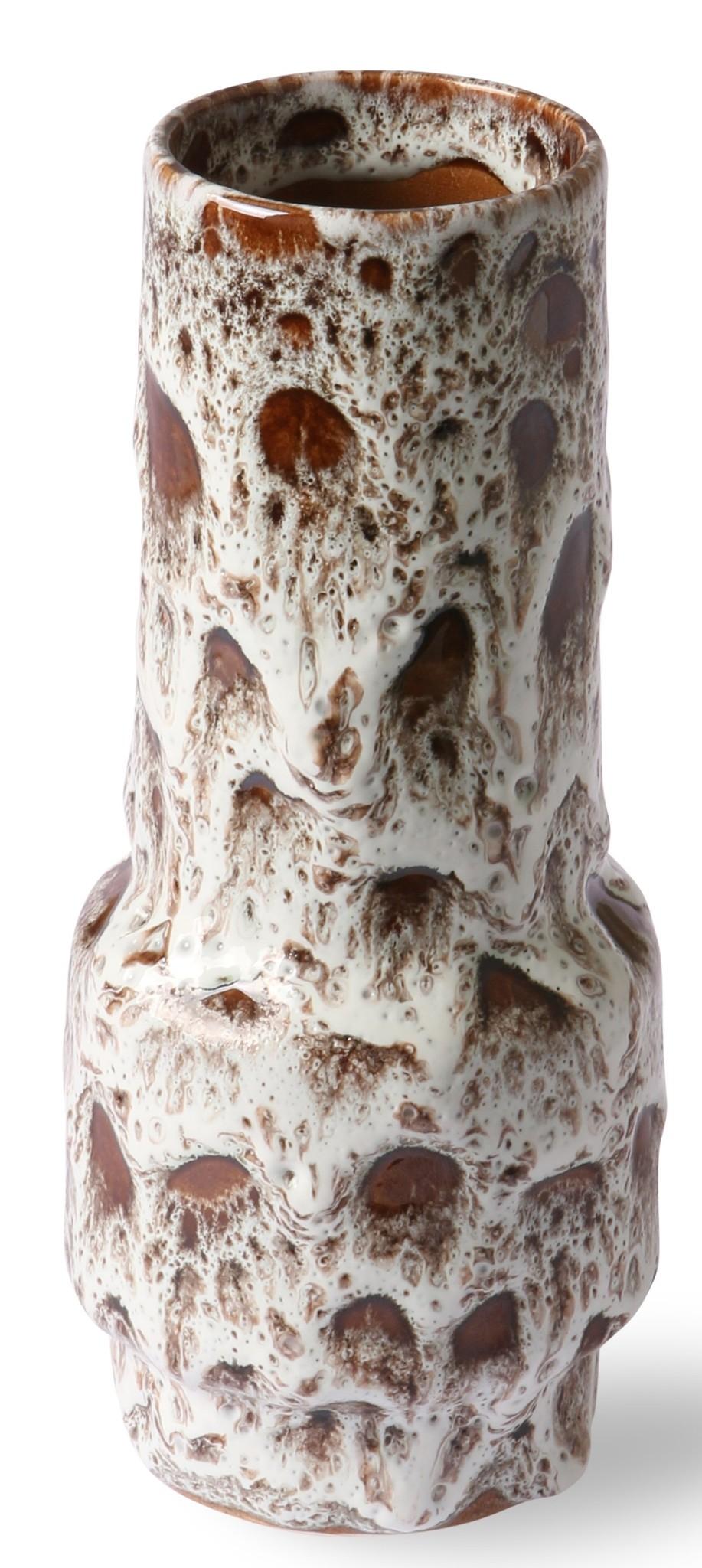 Vaas ceramic retro vase lava white-1